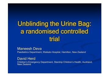 Unblinding the Urine Bag: a randomised controlled trial