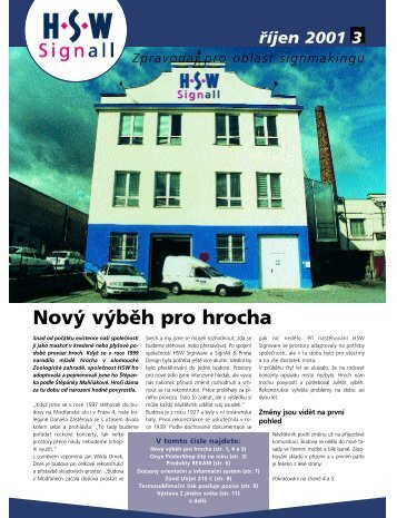 HSWinfo 2001/3 - HSW signall