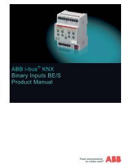 ABB i-bus® KNX Blind/Roller Shutter Actuators with manual