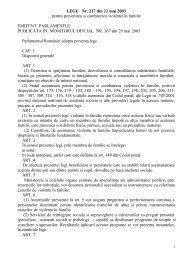 Legea nr. 217 din 22.mai.2003 - Ministerul Muncii, Familiei şi ...