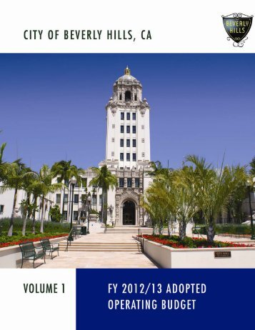 FY 2012-13 Budget percent (1%) - the City of Beverly Hills