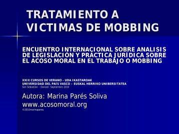 Tratamiento a las víctimas de mobbing - Acoso moral