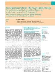 Das Adipositasparadoxon oder Reverse Epidemiologie Hohes ...