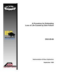 A Procedure for Estimating Loss of Life Caused by Dam Failure DSO ...