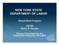 New York State Department of Labor Shared Work Program