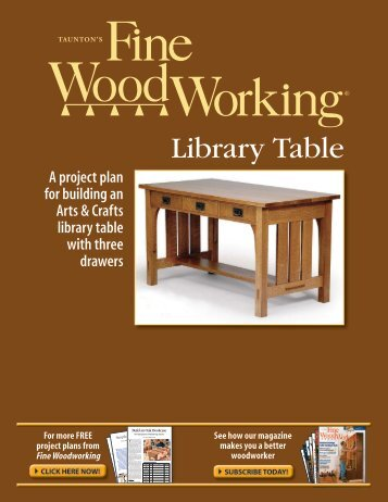 Free Download Arts and Crafts Library Table, An