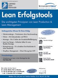 Seminar: Lean Erfolgstools - Management Circle AG