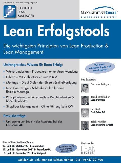 Seminar: Lean Erfolgstools - Management Circle AG