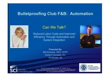 CMAA-Bulletproof - Automation Webinar
