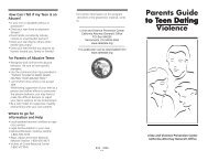 Parents Guide to Teen Dating Violence - Center For Relationship ...