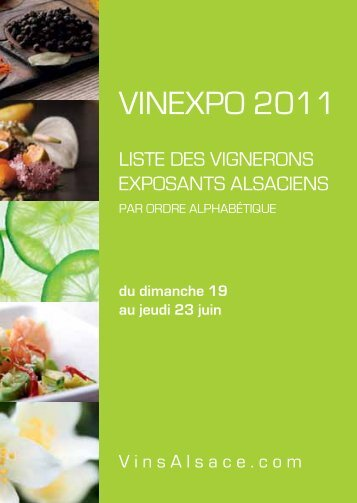 Vinexpo 2011 - Le Blog très officiel des Vins d'Alsace