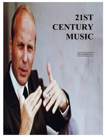December - 21st Century Music