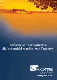 Informatie voor patiënten die behandeld worden met Taxotere®