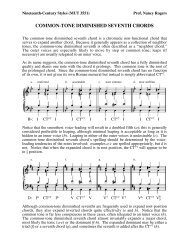 COMMON-TONE DIMINISHED SEVENTH CHORDS - Mailer Fsu