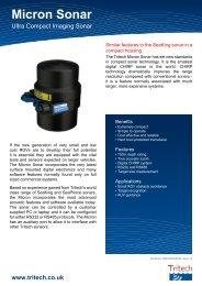 Micron Sonar - Ultra Compact Imaging Sonar - Tritech