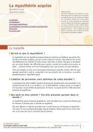 La myasthénie acquise - AFM - Groupe Myasthénie