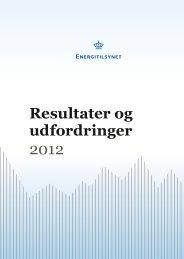 Energitilsynet: Resultater og Udfordringer 2012