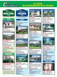 La vitrine des professionnels de la location - Occasion Antilles