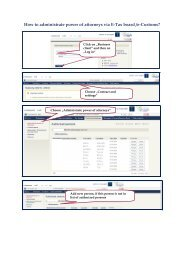 How to administrate power of attorneys via E-Tax board /e-Customs?