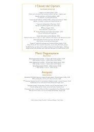 Menu Fortuny Dinner - Maggio NO PREZZI - by Orient-Express