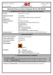 Safety Data Sheet - MKT Metall-Kunststoff-Technik GmbH & Co. KG