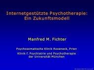 Internetgestützte Psychotherapie: Ein Zukunftsmodell - PTK Bayern