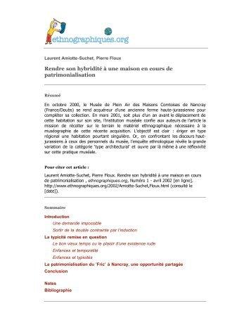 Télécharger en PDF - Ethnographiques.org