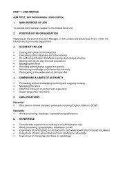 PART 1: JOB PROFILE JOB TITLE: Unit Administrator ... - Christian Aid