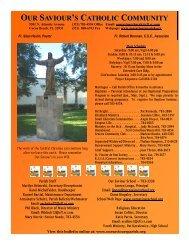 October 25, 2009 - Our Saviour's Catholic Community