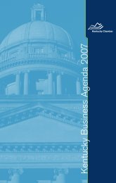 The Legislative Agenda - Kentucky Chamber of Commerce