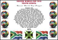 SOCCER WORLD CUP 2010 SOUTH AFRICA Soccer World Cup ...