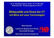 Bildqualität und Dosis bei CT mit Blick auf neue Technologien