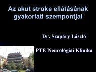 Stroke - PTE KK Neurológiai Klinika