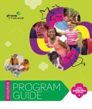2013/2014 Program Guide - Girl Scouts of Rhode Island