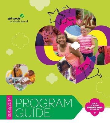 2013/2014 Program Guide - Girl Scouts of Rhode Island
