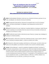 Types de plastiques dans les produits Tupperware et codes de ...