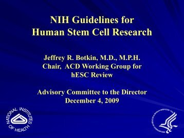 NIH Guidelines for Human Stem Cell Research (PDF – 127KB)