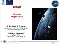 Mission Objectives - QB50
