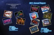 2011 Annual Report - New York State Small Business Development ...
