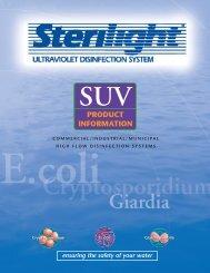 Sterilight SUV Specs - Big Brand Water Filter