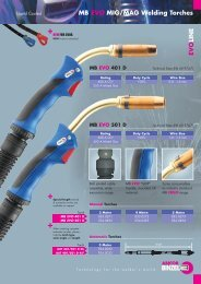 MB EVO MIG/MAG Welding Torches EVO LINE - Rapid Welding and ...
