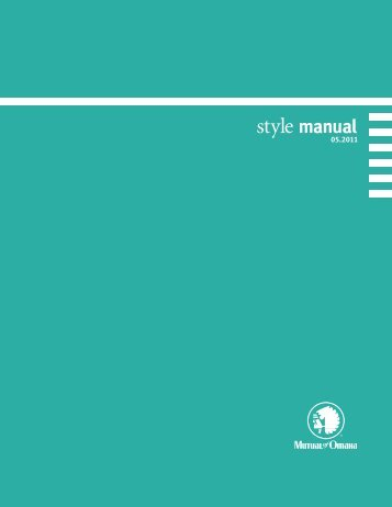 style manual - Mutual of Omaha
