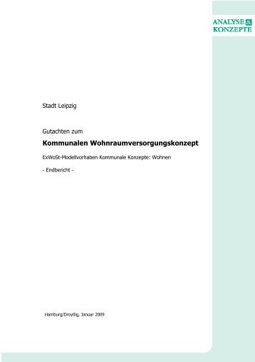 Wohnraumversorgungskonzept Leipzig - Gutachten