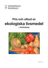 Pris och utbud av ekologiska livsmedel i Jönköping - Jönköpings ...