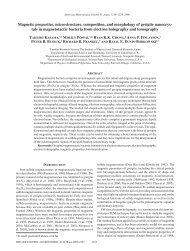 Magnetic properties, microstructure, composition, and morphology of ...