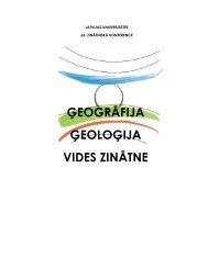 ģeogrāfija ģeoloģija vides zinātne - Ģeogrāfijas un Zemes zinātņu ...