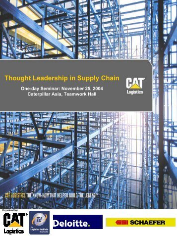 Thought Leadership in Supply Chain - The Logistics Institute