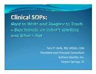 Terri P. Kelly, RN, MSQA, CQA President and Principal ... - FDA News