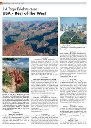 14 Tage Erlebnisreise USA - Best of the West - Scharff-Reisen.de