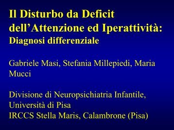 ADHD e diagnosi differenziale - Masi - Aidai